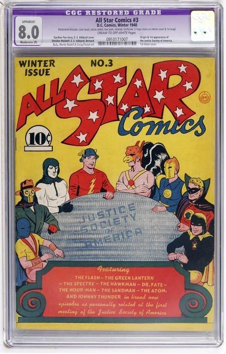 41007: All Star Comics #3 (DC, 1940) CGC Apparent VF