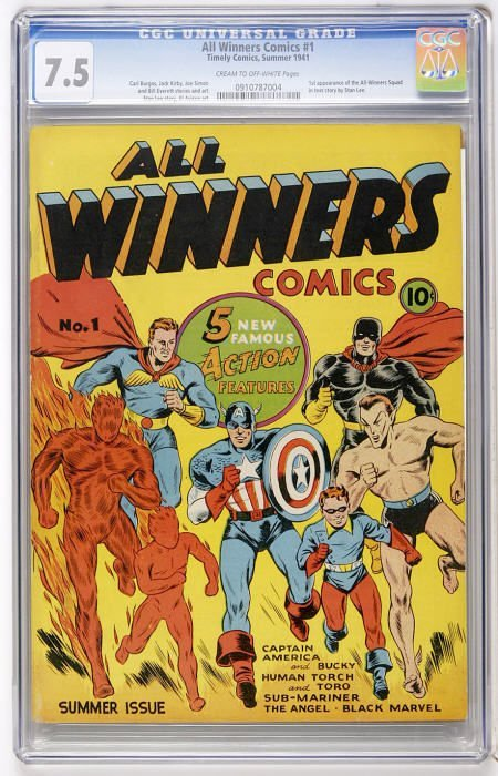 41010: All Winners Comics #1 (Timely, 1941) CGC VF- 7.5