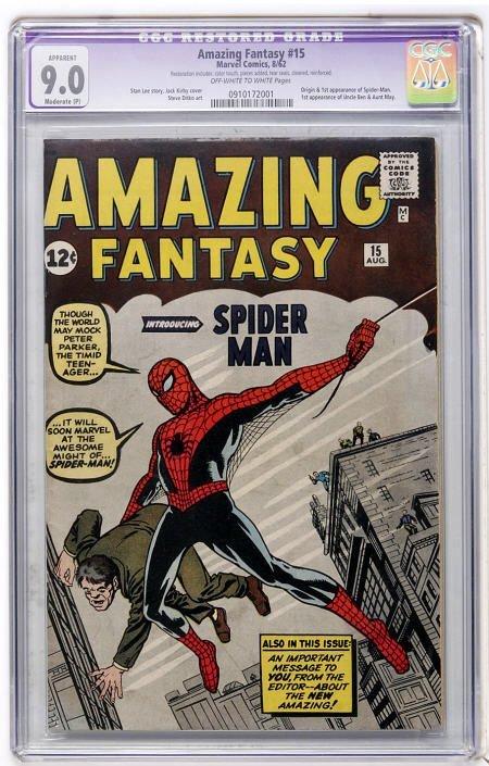 41011: Amazing Fantasy #15 (Marvel, 1962) CGC App 9.0