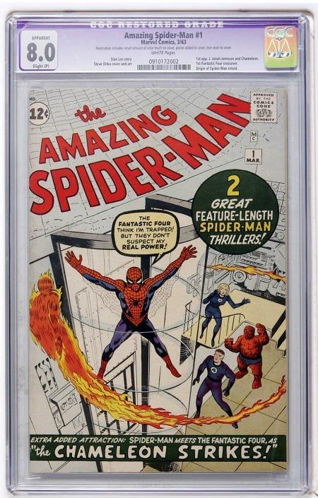 41012: The Amazing Spider-Man #1 (1963) CGC App 8.0