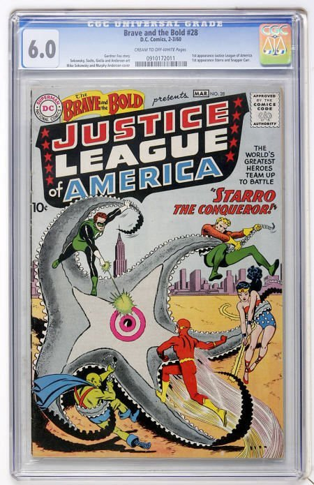 41017: The Brave and the Bold #28 (DC, 1960) CGC FN 6.0