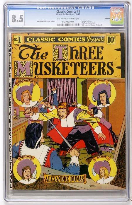 41020: Classic Comics #1 (Gilberton, 1941) CGC VF+ 8.5.