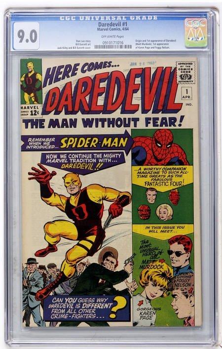 41021: Daredevil #1 (Marvel, 1964) CGC VF/NM 9.0