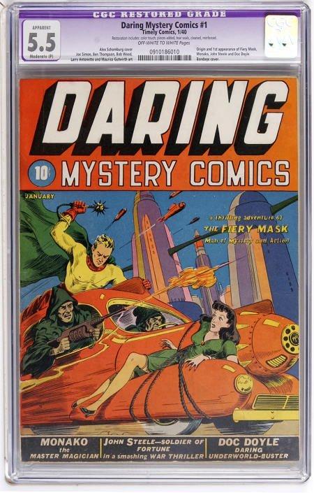 41022: Daring Mystery Comics #1 (1940) CGC App 5.5