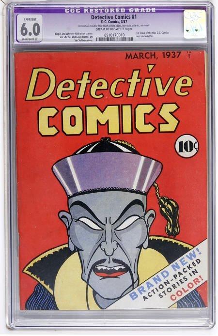 41023: Detective Comics #1 (DC, 1937) CGC App FN 6.0