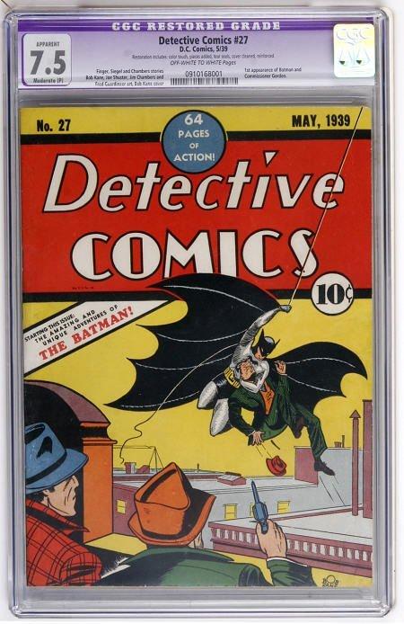 41024: Detective Comics #27 (DC, 1939) CGC VF- 7.5