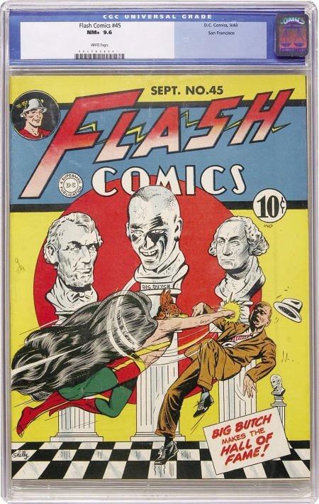 41145: Flash Comics #45 San Francisco pedigree (DC,