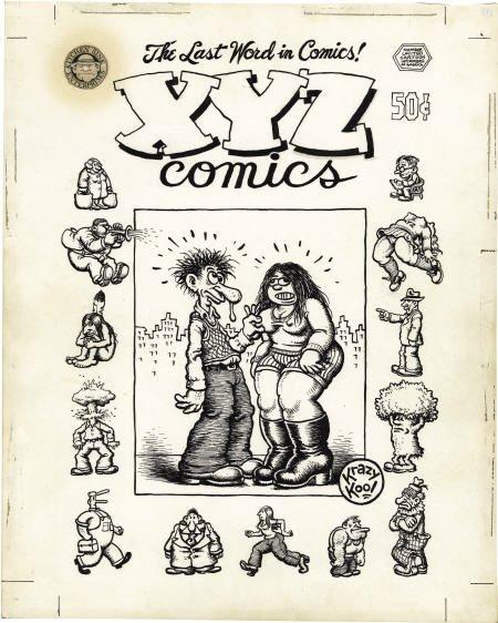 42059: Robert Crumb - XYZ Comics Cover Original Art