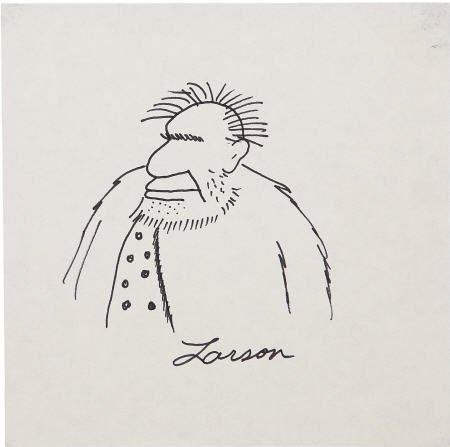 42143: Gary Larson - Caveman Sketch Original Art