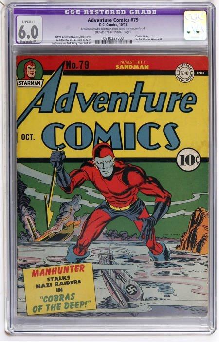 43001: Adventure Comics #79 (DC, 1942) CGC Apparent FN