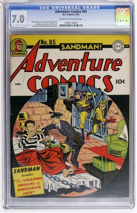43002: Adventure Comics #85 (DC, 1943) CGC FN/VF 7.0