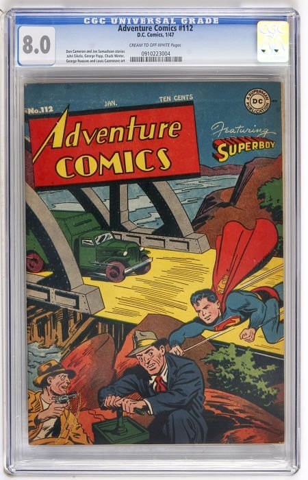 43003: Adventure Comics #112 (DC, 1947) CGC VF 8.0