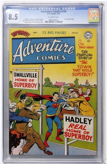 43004: Adventure Comics #166 (DC, 1951) CGC VF+ 8.5