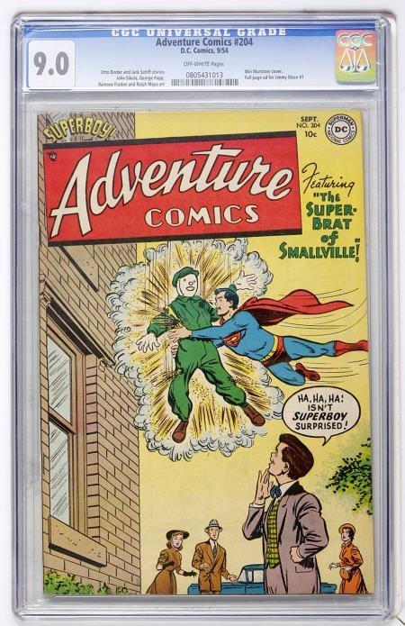 43005: Adventure Comics #204 (DC, 1954) CGC VF/NM 9.0