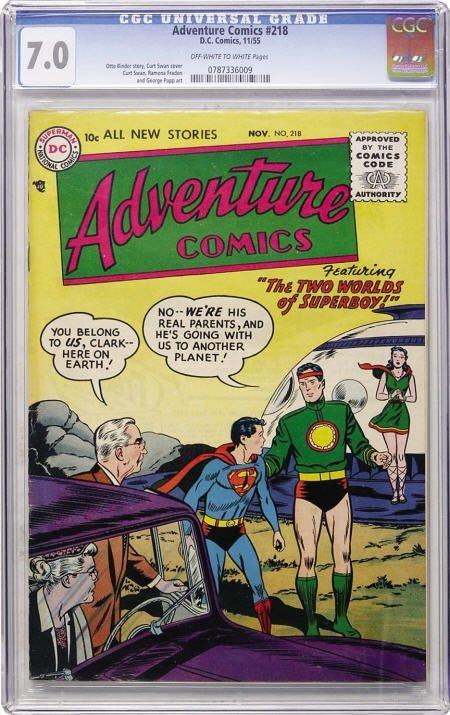 43006: Adventure Comics #218 (DC, 1955) CGC FN/VF 7.0