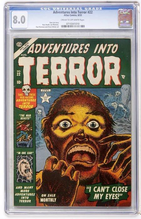 43007: Adventures Into Terror #22 (Atlas, 1953) CGC VF