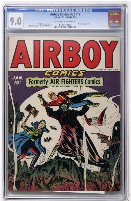 43008: Airboy Comics V2#12 (Hillman Fall, 1947) CGC