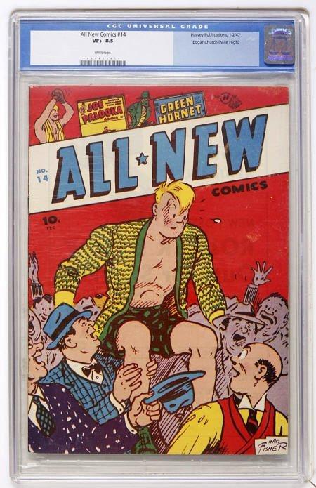 43009: All-New Comics #14 Mile High CGC VF+ 8.5