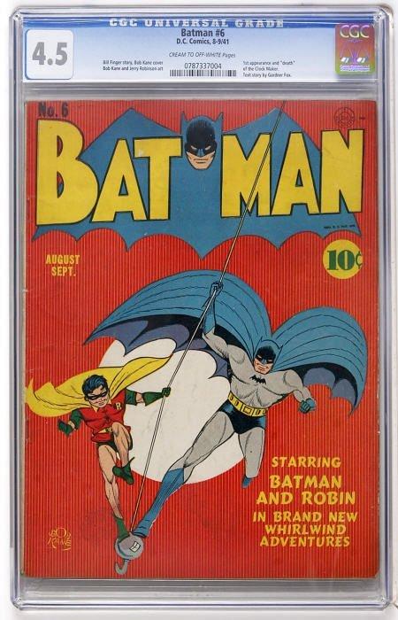 43012: Batman #6 (DC, 1941) CGC VG+ 4.5 Cream to