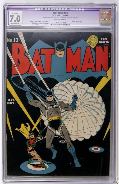 43014: Batman #13 (DC, 1942) CGC Apparent FN/VF 7.0