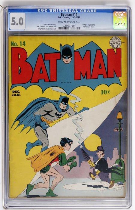 43015: Batman #14 (DC, 1943) CGC VG/FN 5.0 Cream to