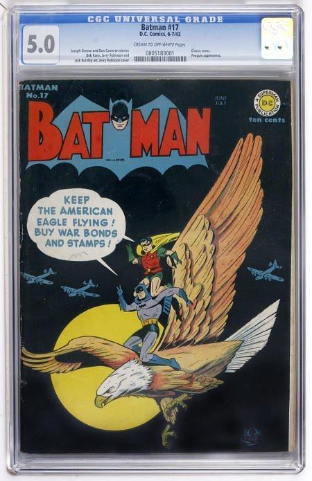 43018: Batman #17 (DC, 1943) CGC VG/FN 5.0 Cream to