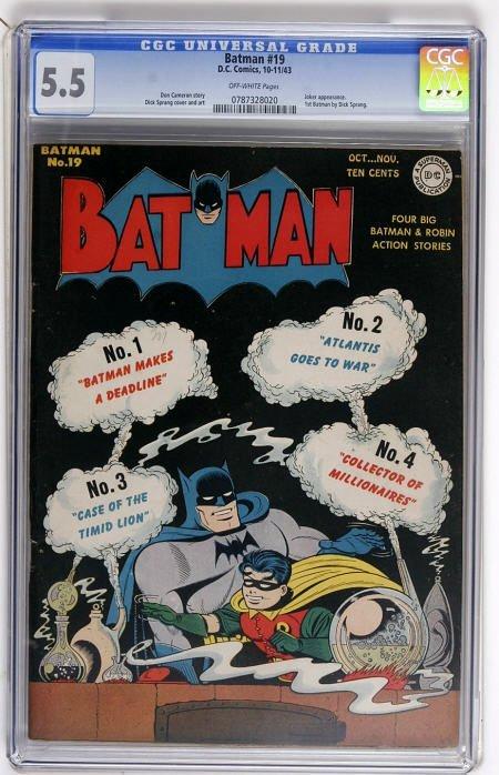 43020: Batman #19 (DC, 1943) CGC FN- 5.5 Off-white