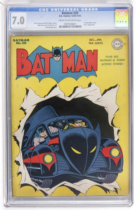 43021: Batman #20 (DC, 1943) CGC FN/VF 7.0 Cream to