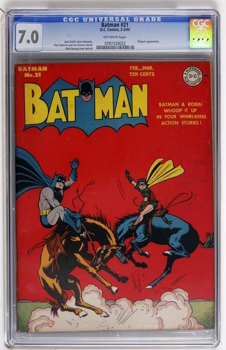 43022: Batman #21 (DC, 1944) CGC FN/VF 7.0 Off-white