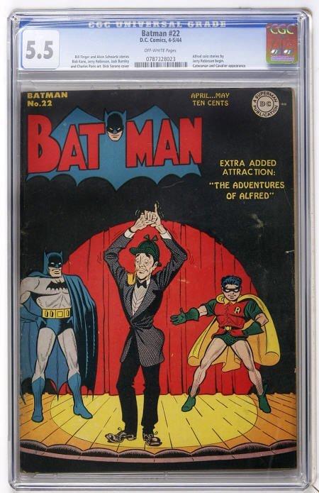 43023: Batman #22 (DC, 1944) CGC FN- 5.5 Off-white