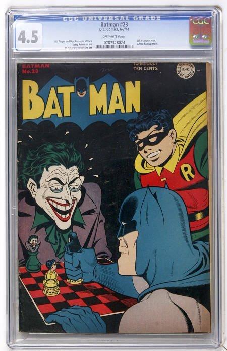 43024: Batman #23 (DC, 1944) CGC VG+ 4.5 Off-white