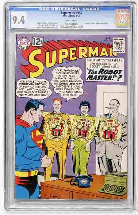 Superman #152 (DC, 1962) CGC NM 9.4 White pages.
