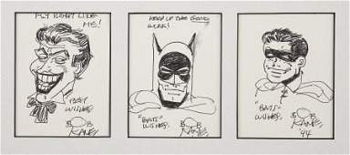 43530: Bob Kane - Batman, Robin and Joker Sketch