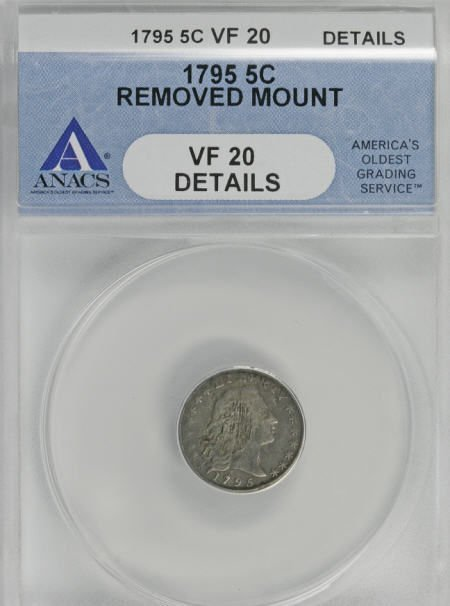 4: 1795 H10C--Removed Mount--ANACS. VF20 Details.