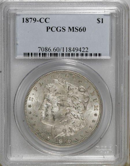 2434: 1879-CC $1 MS60 PCGS