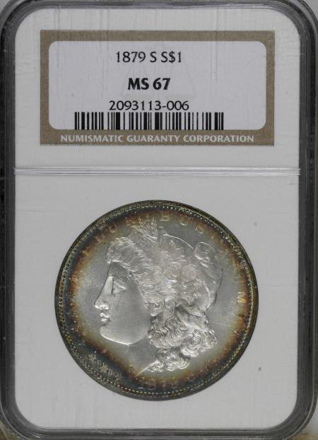 2443: 1879-S $1 MS67 NGC