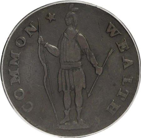 7020: 1788 1C Massachusetts Cent, Period VF35 PCGS. PCG