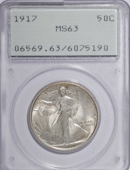 8743: 1917 50C MS63 PCGS. PCGS Population (517/951). NG