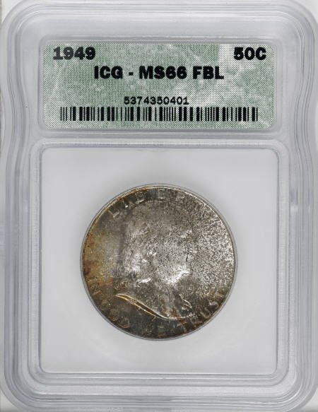 8920: 1949 50C MS66 Full Bell Lines ICG. NGC Census: (2