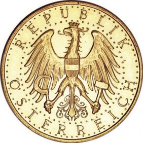 Austria Republic Gold 100 Schilling 1929,