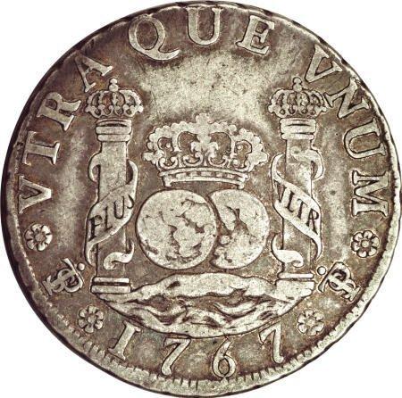 50481: Bolivia Carlos III Pillar 4 Reales 1767-JR,