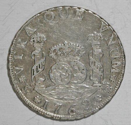 50482: Bolivia Carlos III Pillar 4 Reales 1769-JR Fancy