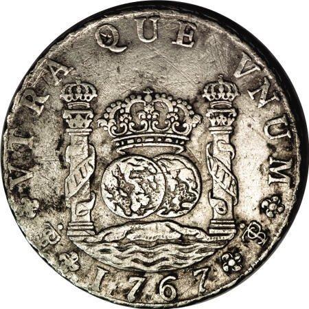 50484: Bolivia Carlos III Pillar 8 Reales 1767-JR,