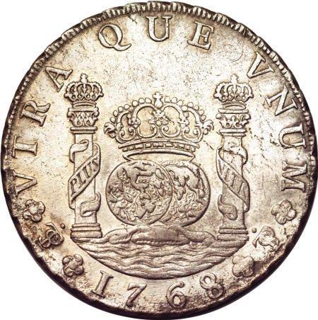 50485: Bolivia Carlos III Pillar 8 Reales 1768-JR,
