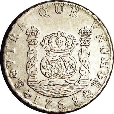 50486: Bolivia Carlos III Pillar 8 Reales 1769-JR Fancy
