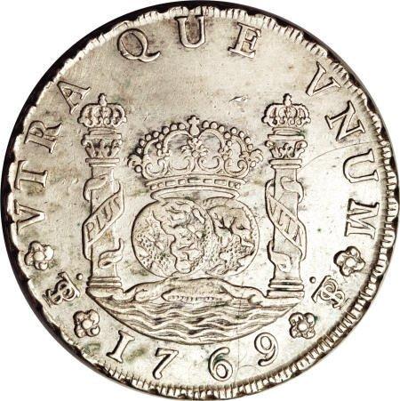 50487: Bolivia Carlos III Pillar 8 Reales 1769/8-JR