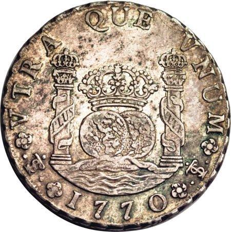 50488: Bolivia Carlos III Pillar 8 Reales 1770-JR,