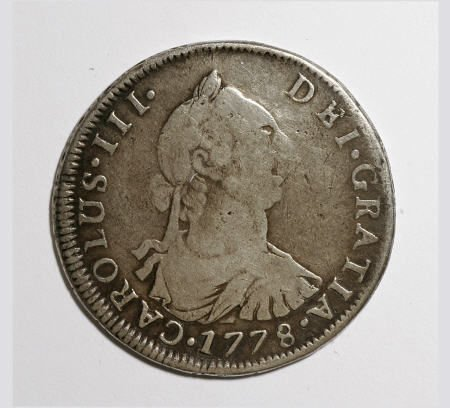 50492: Bolivia Carlos III 4 Reales - Two Dates, KM54,