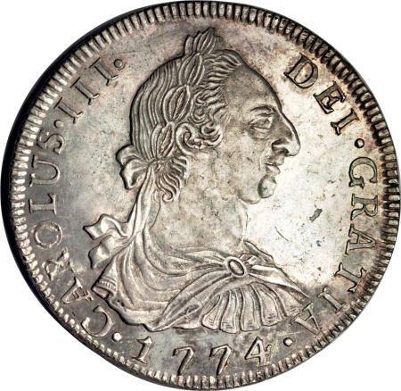 50494: Bolivia Carlos III 8 Reales 1774-JR, KM55,