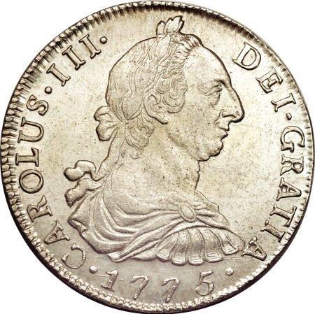 50495: Bolivia Carlos III 8 Reales 1775-JR, KM55,